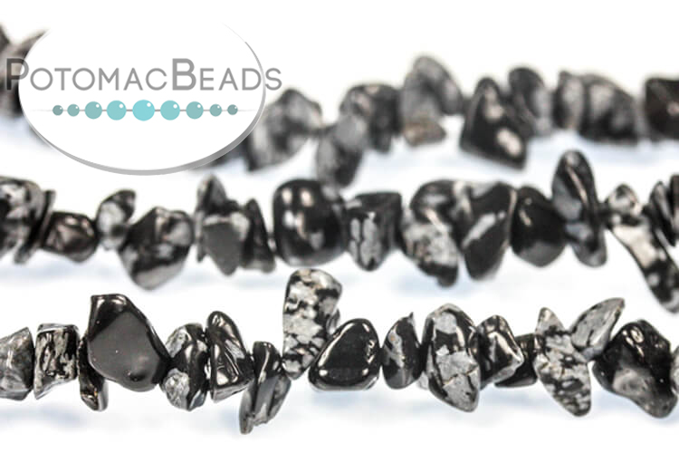 Other Beads & Supplies / Gemstones / Snowflake Obsidian
