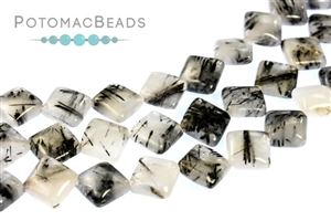 Jewelry Making Supplies & Beads / Gemstone Beads & Semi Precious Stone Beads / Tourmalated Quartz