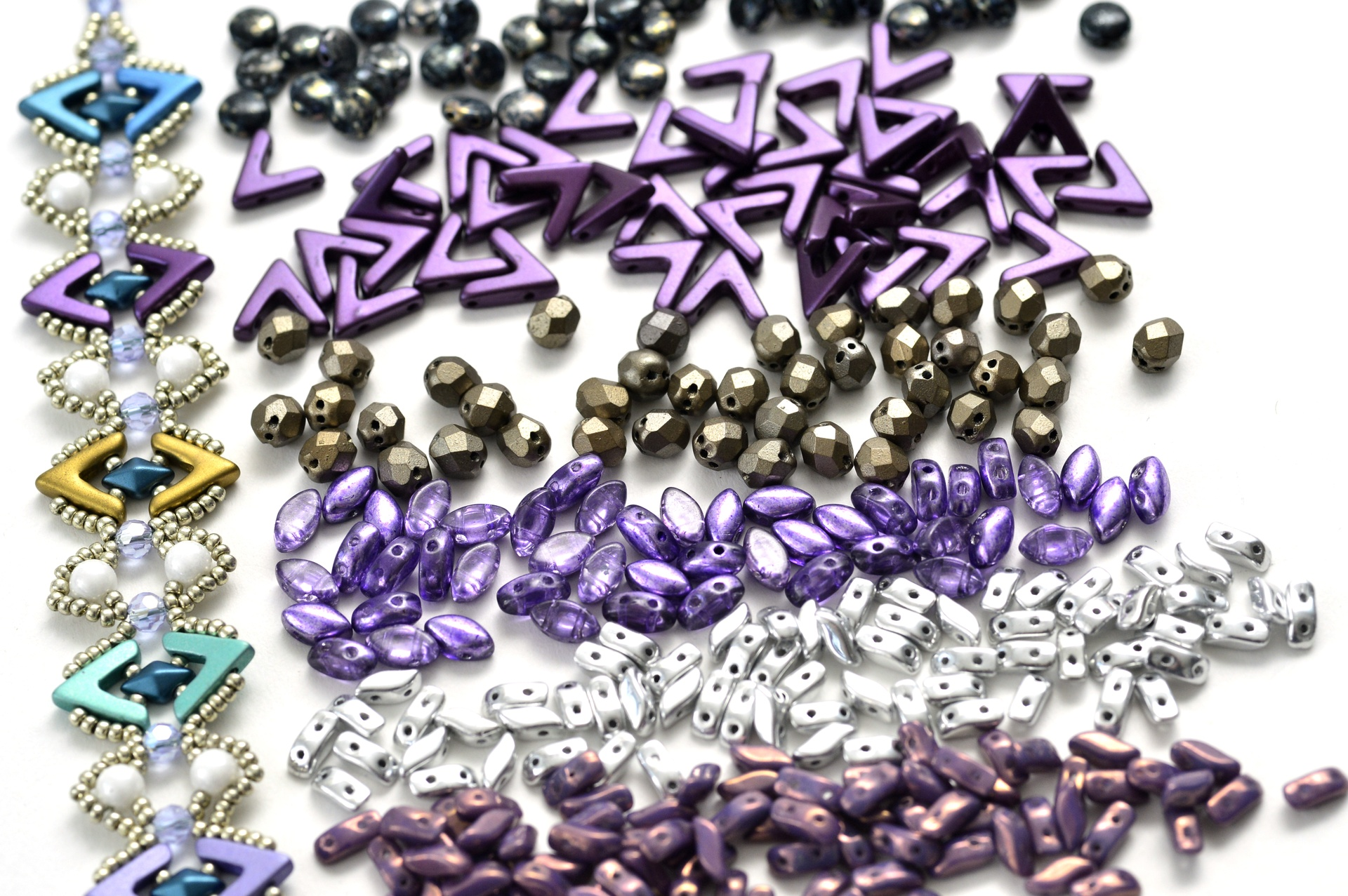 Czech Pressed Glass Beads