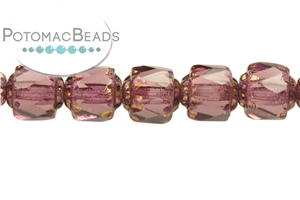 Czech Pressed Glass Beads / Czech Fire Polished Beads / Faceted Cathedrals
