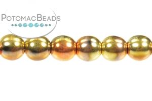 Czech Pressed Glass Beads / Rounds (Druks) / Round 4mm