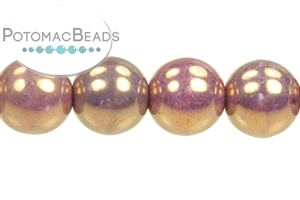 Czech Pressed Glass Beads / Rounds (Druks) / Round 8mm