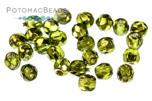 Czech Glass / Fire Polished Faceted Rounds / Czech Fire Polished Faceted Round Beads 3mm