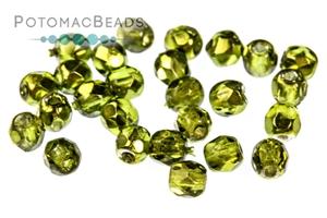 Czech Glass / Fire Polished Faceted Rounds / Czech Fire Polished Faceted Round Beads 3mm