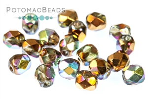 Czech Pressed Glass Beads / Fire Polished Faceted Rounds / Czech Fire Polished Faceted Round Beads