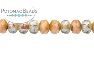 Czech Pressed Glass Beads / Czech Fire Polished Beads / Faceted Rondelles 3x5mm