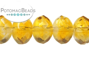 Czech Pressed Glass Beads / Czech Fire Polished Beads / Faceted Rondelles 6x9mm