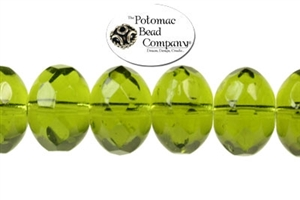 Czech Pressed Glass Beads / Czech Fire Polished Beads / Faceted Rondelles (Larger)