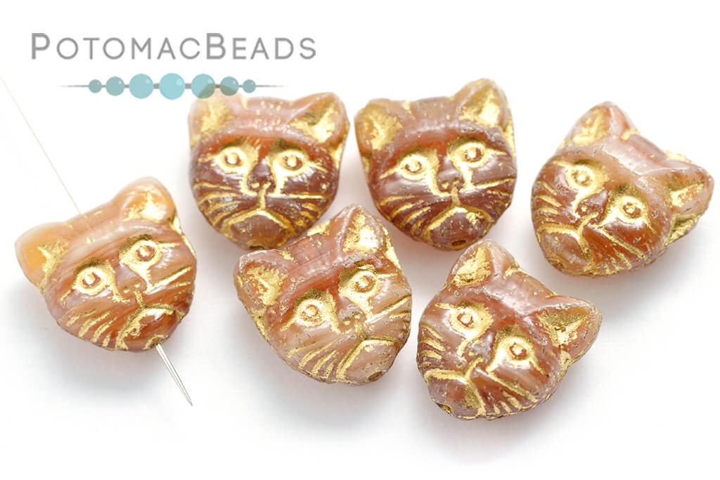 Czech Pressed Glass Beads / Animals, Insects, & Seasonal Shapes