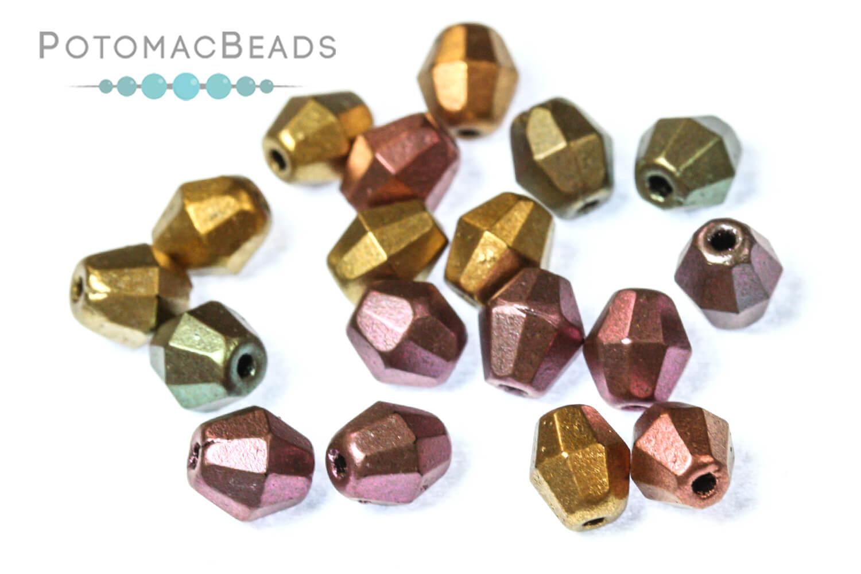 Czech Pressed Glass Beads / Bicones