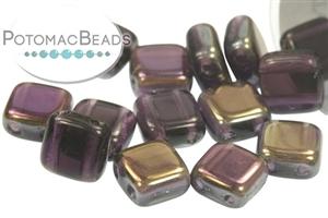 Czech Pressed Glass Beads / Czech Glass & Japanese Two Hole Beads / Tile Beads (2-Hole)