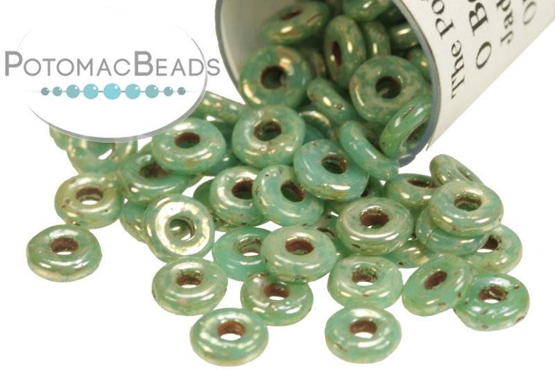 Czech Pressed Glass Beads / Czech O Beads