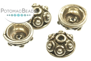 Other Beads & Supplies / Metal Beads & Findings / Bead Caps & Endcones / Sterling Silver Bead Caps & End Cones