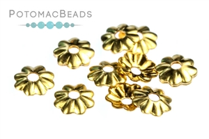 Jewelry Making Supplies & Beads / Metal Beads & Beads Findings / Bead Caps & Endcones / Gold & Vermeil Bead Caps & End Cones