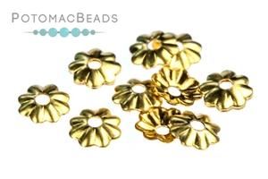 Other Beads & Supplies / Metal Beads & Findings / Bead Caps & Endcones / Gold & Vermeil Bead Caps & End Cones
