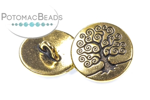 Jewelry Making Supplies & Beads / Buttons / Gold Plated Buttons