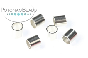 Other Beads & Supplies / Metal Beads & Findings / Crimps, Covers, & Cord Ends / Sterling Silver Crimps, Covers, & Cord Ends