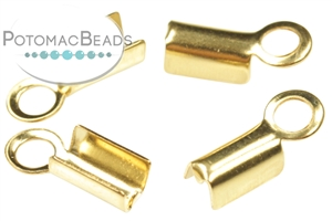 Other Beads & Supplies / Metal Beads & Findings / Crimps, Covers, & Cord Ends / Gold & Vermeil Crimps, Covers, & Cord Ends