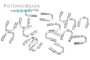 Other Beads & Supplies / Metal Beads & Findings / Crimps, Covers, & Cord Ends / Silver Plated Crimps, Covers, & Cord Ends