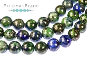 Jewelry Making Supplies & Beads / Gemstone Beads & Semi Precious Stone Beads / Azurite