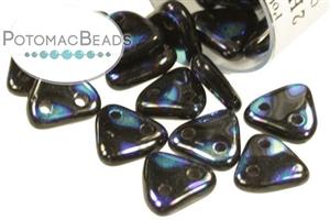 Czech Pressed Glass Beads / Triangles (2-hole)