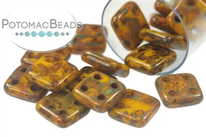 Czech Pressed Glass Beads / QuadraTile Beads