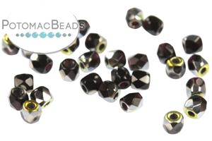 Czech Pressed Glass Beads / Fire Polished Faceted Rounds / Czech Fire Polished Faceted Round Beads 2mm