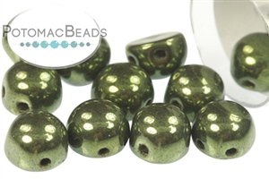 Czech Pressed Glass Beads / 2-Hole Cabochons