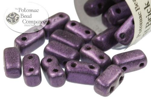 Czech Pressed Glass Beads / CzechMates 2-hole Brick