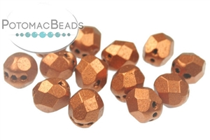Czech Pressed Glass Beads / Czech Fire Polished Beads / Faceted RounTrio® Beads