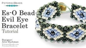 How to Bead / Free Video Tutorials / Bracelet Projects / Es-O Bead Evil Eye Bracelet Tutorial