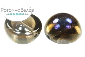 Czech Pressed Glass Beads / Dome Beads / Dome Beads 14x8mm