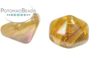 Czech Pressed Glass Beads / Pyramid (Hex Cut) Beads