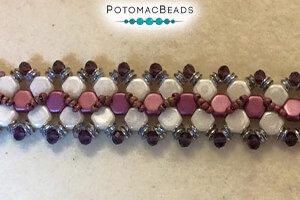 How to Bead Jewelry / Free Beading Patterns PDF / Honeycomb Bead Patterns