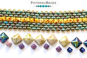 How to Bead Jewelry / Free Beading Patterns PDF / Pyramid Bead Patterns