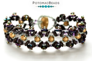 How to Bead Jewelry / Free Beading Patterns PDF / CzechMates 2-Hole Lentil Bead Patterns