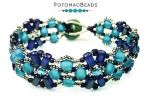 How to Bead Jewelry / Free Beading Patterns PDF / CzechMates 2-Hole Brick Bead Patterns