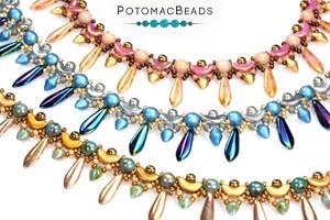 How to Bead Jewelry / Free Beading Patterns PDF / CzechMates 2-Hole Dagger Bead Patterns
