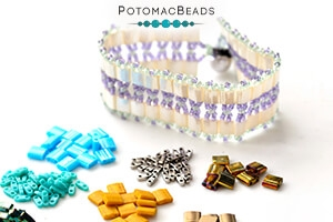 How to Bead Jewelry / Free Beading Patterns PDF / Tila & Half Tila Bead Patterns