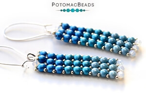 How to Bead Jewelry / Free Beading Patterns PDF / Potomac Crystal Rondelle Bead Patterns