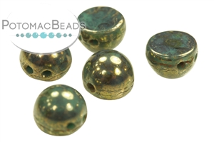 Czech Pressed Glass Beads / Czech Glass & Japanese Two Hole Beads