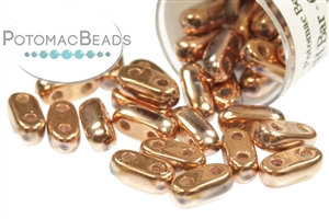 Czech Pressed Glass Beads / Czech Glass & Japanese Two Hole Beads / CzechMates 2-Hole Bar