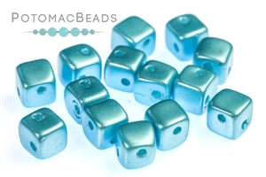 Czech Glass / 2-Hole Beads / CrissCross Cubes