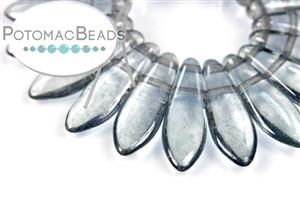 Czech Pressed Glass Beads / Czech Glass & Japanese Two Hole Beads / 2-Hole Daggers