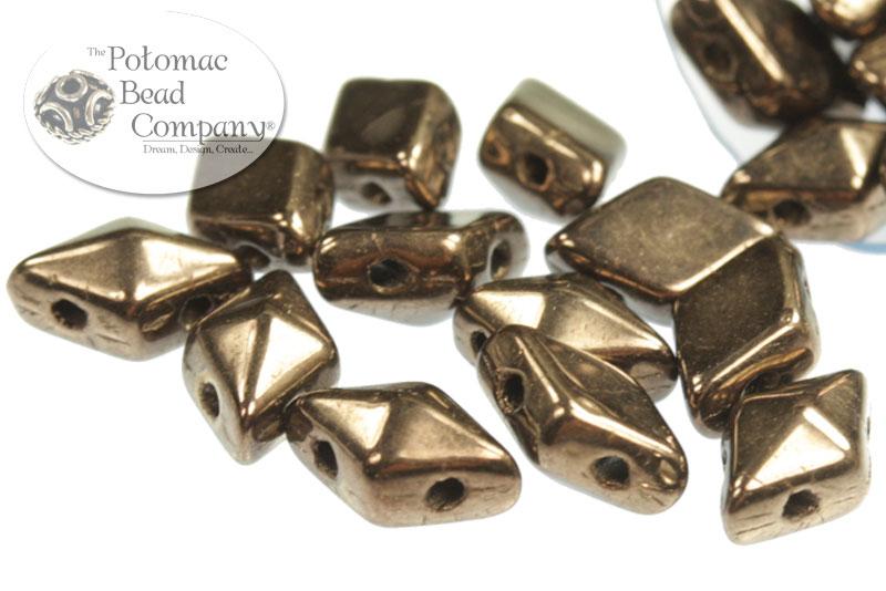 Czech Pressed Glass Beads / Czech Glass & Japanese Two Hole Beads / DiamonDuo® Bead