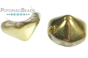 Czech Glass / 2-Hole Beads / Pyramid (Hex Cut) Beads