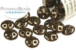 Czech Pressed Glass Beads / 3 Hole Beads / CzechMates QuadraLentil
