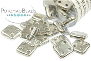 Czech Pressed Glass Beads / 3 Hole Beads / CzechMates QuadraTile