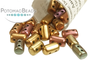 Czech Glass / 2-Hole Beads / Czech Rulla Beads