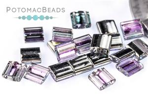 Czech Pressed Glass Beads / Czech Glass & Japanese Two Hole Beads / Miyuki Tila Beads